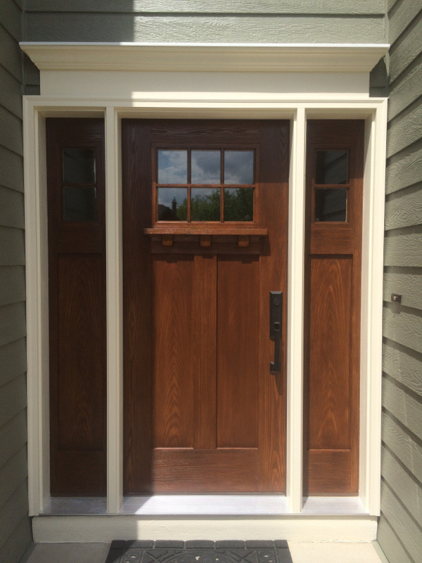 Finishing fiberglass door in Bloomington | AM Painting of Princeton