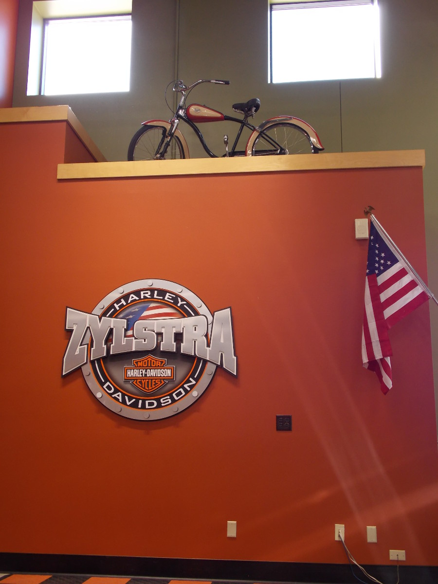 commercial harley davidson zylstra interior painting - am painting
